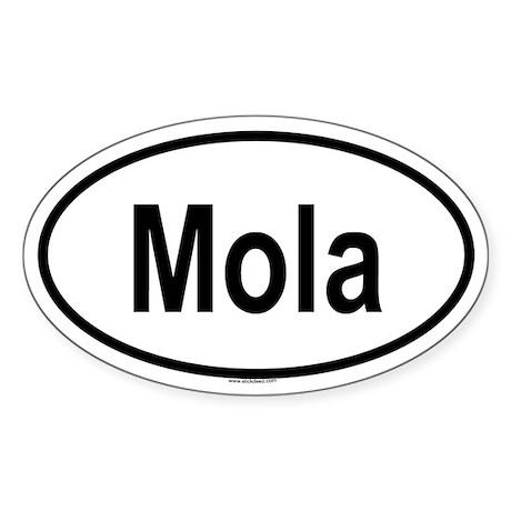 MOLA Oval Sticker