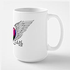 Winged Color Bar Heart Mugs