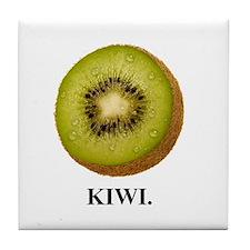Kiwi. Tile Coaster