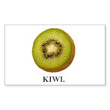Kiwi. Rectangle Decal