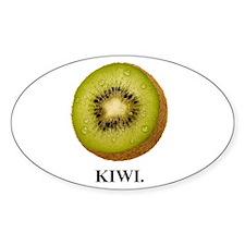 Kiwi. Oval Decal