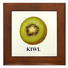 Kiwi. Framed Tile