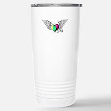 Winged Color Bar Heart Travel Mug