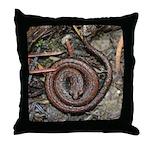 Slender Salamander Throw Pillow