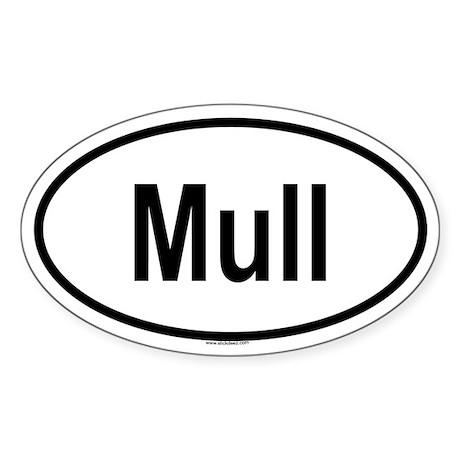 MULL Oval Sticker