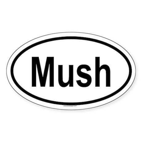MUSH Oval Sticker