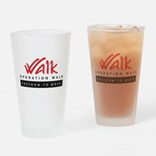 Cute Walk Drinking Glass