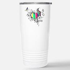Frilled Color Bar Heart Travel Mug