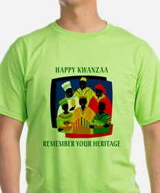Happy Kwanzaa Ash Grey T-Shirt