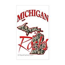 Michigan Rocks Rectangle Decal