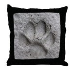 Gray Fox Track Throw Pillow
