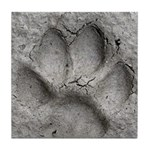 Gray Fox Track Tile Coaster