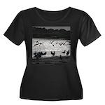 Gulls in Flight Plus Size T-Shirt