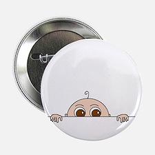 "PEEK-A-BOO BABY (BROWN EYES) 2.25"" Button"