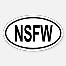 NSFW Oval Decal