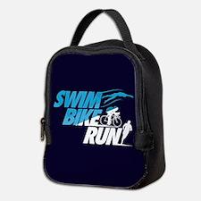 Swim Bike Run Neoprene Lunch Bag