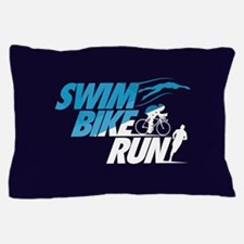 Swim Bike Run Pillow Case