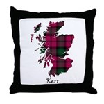 Map - Kerr Throw Pillow