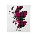 Map - Kerr Throw Blanket