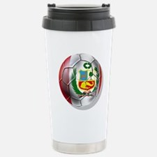 Peru Soccer Ball Travel Mug