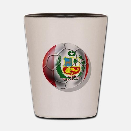 Peru Soccer Ball Shot Glass