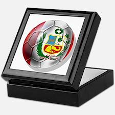 Peru Soccer Ball Keepsake Box
