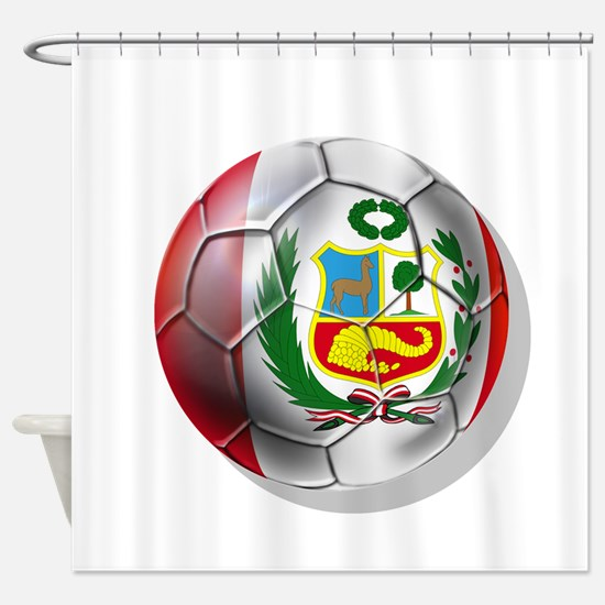 Peru Soccer Ball Shower Curtain