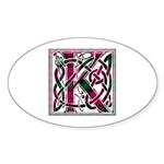 Monogram - Kerr Sticker (Oval 50 pk)