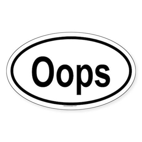 OOPS Oval Sticker