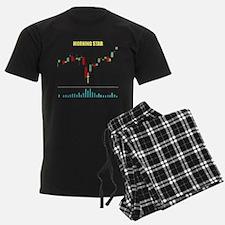 Morning Star on Black Pajamas