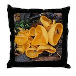 Orange Peel Fungi Throw Pillow