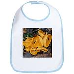 Orange Peel Fungi Baby Bib