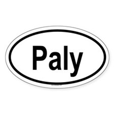 PALY Oval Decal