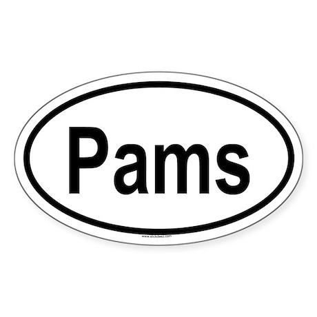 PAMS Oval Sticker