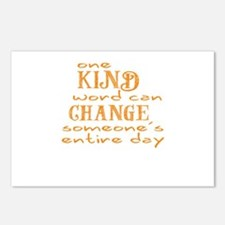 One Kind word can Change someones entire day Postc