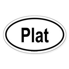 PLAT Oval Decal