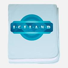 Iceland - Blue baby blanket