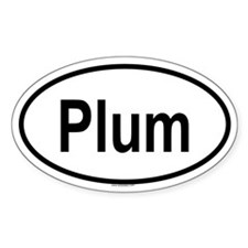 PLUM Oval Decal
