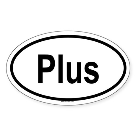 PLUS Oval Sticker