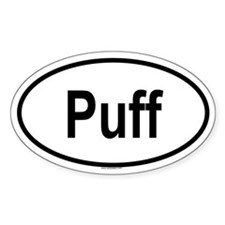 PUFF Oval Decal