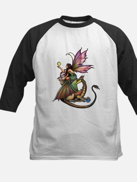 Dragon's Orbs Fairy and Dragon Art Baseball Jersey