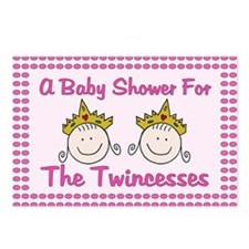 Twincesses Baby Shower Postcards (Package of 8)