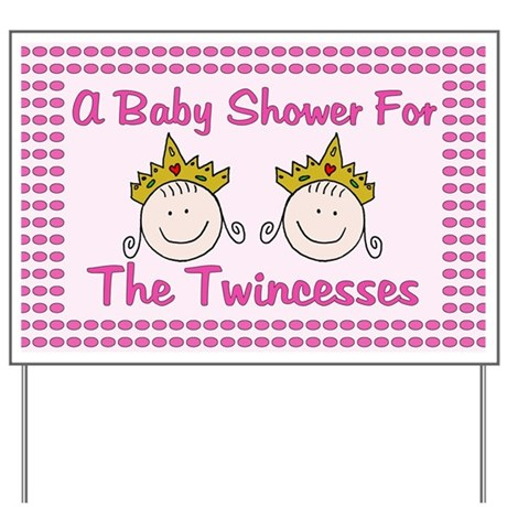 twincesses baby shower yard sign by scrappintwins