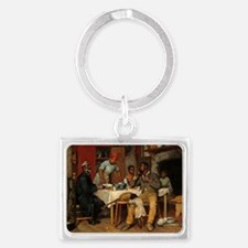 A Pastoral Visit by Richard Norris Brooke Keychain