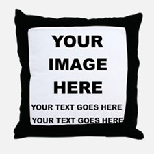 Your Photo and Text Here T Shirt Throw Pillow