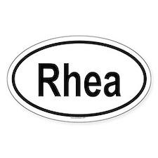 RHEA Oval Decal