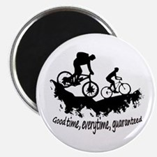Mountain Biking Good Time Inspirational Qu Magnets