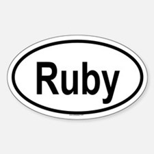 RUBY Oval Decal