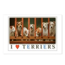 I Love Terriers Postcards (Package of 8)