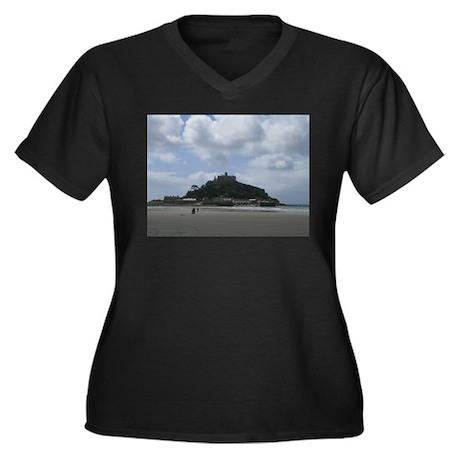 St. Michael's Mount, Cornwall Women's Plus Size V-
